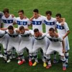 Emil Audero (atas paling kiri) Bersama Timnas Italia Foto: ROL
