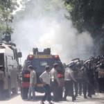 Unjukrasa ricuh di kantor Kejari Selong/lomboktoday/rizal