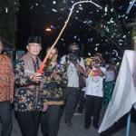 Walikota Mataram, H Ahyar Abduh pada saat pembukaan acara Gebyar SMK Kota Mataram tahun 2014.