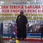STBM: Bupati Loteng, HM Suhaili FT saat memberikan sambutan pada acara deklarasi STBM. (Foto: Akhyar Rosidi/Lomboktoday.co.id)