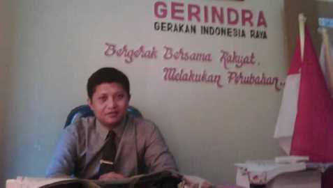 Ketua DPC Partai Gerindra Lotim, Sawaludin. (Foto: Syamsurrijal/Lomboktoday.co.id)
