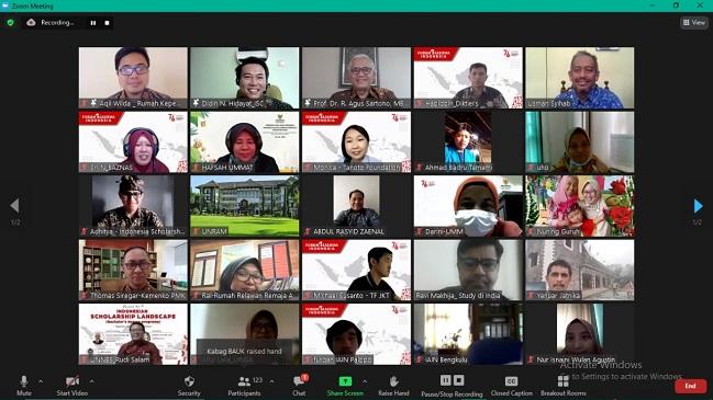Zoom Meeting Forum Beasiswa Indoesia